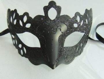 Black ornate Half Mask (b)